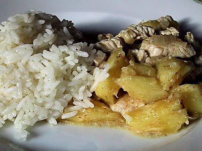 Ananas-Curry-Huhn