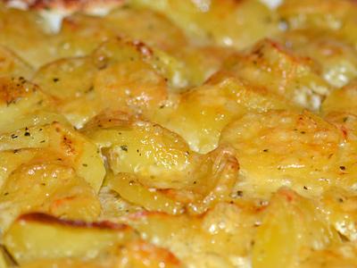 Zwei-Käse-Kartoffelgratin